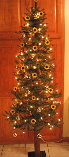 A Sunflower Christmas Tree I made in 2010 for my Sun room.