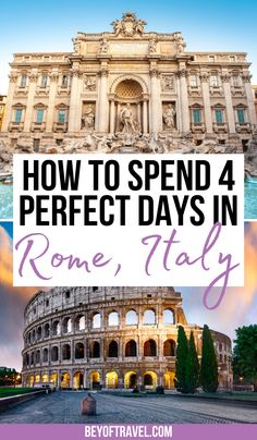 Rome Itinerary 4 Days | 4 days in Rome itinerary | rome 4 days | rome italy 4 days | rome for 4 days | rome italy | rome italy things to do in | things to do in rome italy | rome italy travel | rome italy attractions | what to do in rome italy | visiting rome italy | rome italy itinerary | rome italy tips | things to see in rome italy | places to visit in rome italy | travel beautiful places rome italy | unique things to do in rome | #romeitaly #rometravel