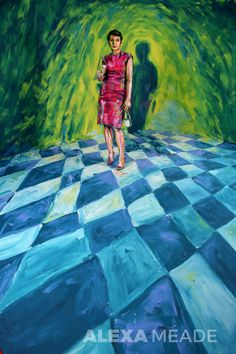 Violeta by Alexa Meade. Alexa Meade paints directly onto real people and 3D spaces to make them look like 2D paintings.