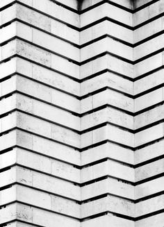 Zig Zag patterns in architecture with graphic lines & repetition