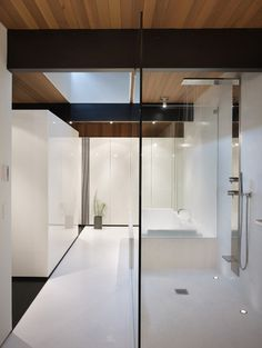 wood block residence - modern - bathroom - seattle - chadbourne + doss architects