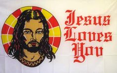 Jesus Loves You 3'x 5' Religious Flag