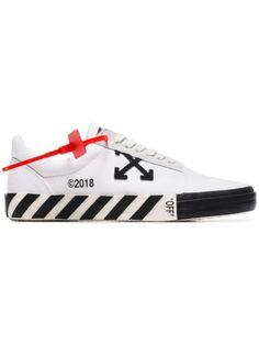 Off-White Vulc Sneakers - Farfetch Supreme Hat, Nike Logo, White Leather, Off White, Kicks, Women Wear, Lace Up, Hats, Sneakers