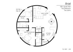 Really like this floor plan. Floor Plan: DL-3901   Monolithic Dome Institute