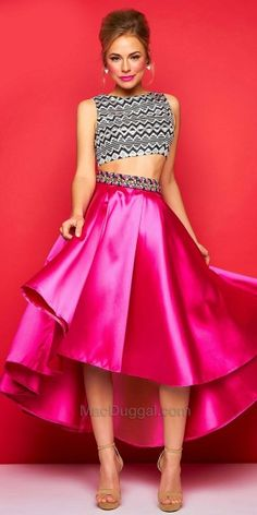 Two Piece Waterfall Dress by Mac Duggal