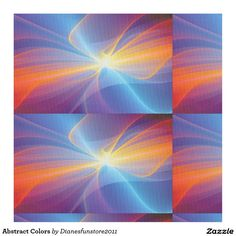 Abstract Colors Fabric