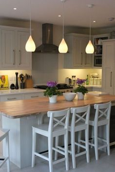 Shaker Style kitchen by John Lewis of Hungerford, with large island, creating a relaxed and social kitchen. http://www.john-lewis.co.uk/kitchens/classic-shaker-kitchen
