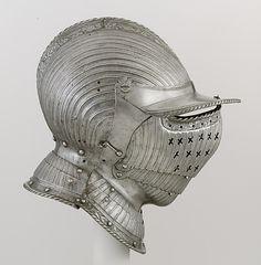 Closed Burgonet Closed Burgonet Attributed to Kolman Helmschmid  (German, Augsburg, 1471–1532) ca. 1525–30 German, Augsburg Etched steel, leather