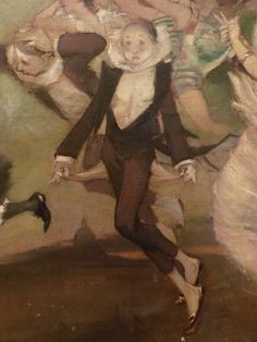WILLETTE Adolphe,1884 - Parce Domine - Detail 110 : Pierrot triste - A sad Pierrot - Montmartre -
