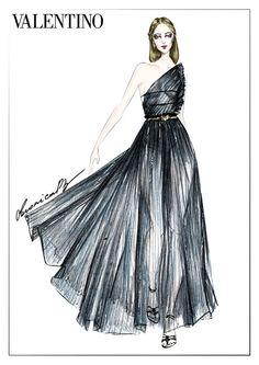 Valentino Fashion Illustration