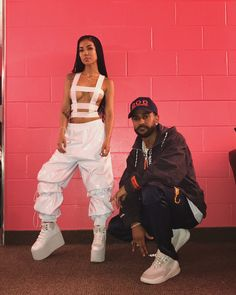 Big Sean + Jhene Aiko @ Chene Park in Detroit. G-Star Raw pants, sneakers, and hat. Jhene wore an Anrealage top, pants, and boots Young Black Couples, Black Couples Goals, Cute Couples Goals, Couple Goals, Big Sean And Jhene, Black Relationship Goals, Jhene Aiko, Bae Goals, How To Pose