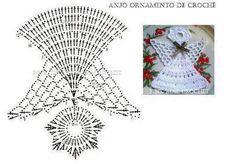 Clic sur l'image pour l'agrandir Marque-pages Au Crochet, Crochet Tree, Crochet Snowflake Pattern, Crochet Angels, Crochet Stars, Crochet Snowflakes, Irish Crochet, Crochet Patterns, Crochet Christmas Ornaments