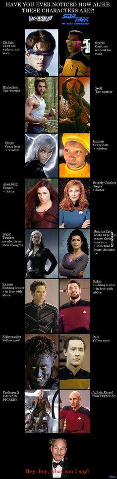 X-Men = Star Trek TNG? 9gag.com