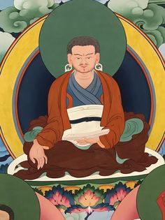 Marpa Lotsawa (Tib. མར་པ་ལོ་ཙཱ་བ་ཆོས་ཀྱི་བློ་གྲོས་) (1012-1097) was a great Tibetan master and translator, and a disciple of Naropa and other great siddhas. He brought many tantras from India to Tibet and translated them. These teachings were passed down through Milarepa and his other disciples, and are the basis of the teachings of the Kagyü lineage.  #ColoringForMeditation #TibetanArt #TibetanColoring #Thangka #BuddhistArt #BuddhistColoring