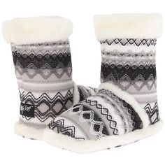 Slip on these beautiful knit bootie slippers from MF Western first thing in the morning to keep your feet cozy warm! Part of the Blazin Roxx Collection. Man-ma…