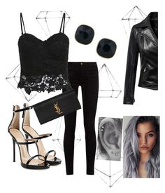 """""""#1"""" by buflie ❤ liked on Polyvore featuring Umbra, Giuseppe Zanotti, Gucci, Yves Saint Laurent and ABS by Allen Schwartz"""
