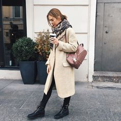 Get this look: http://lb.nu/look/7874156  More looks by Valeriya Sytnik: http://lb.nu/user/5362196-Valeriya-S  Items in this look:  Michael Kors Backpack, 12storeez Coat, Fabio Rusconi Boots
