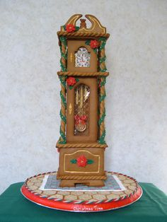 GINGERBREAD HOUSE~GINGERBREAD GRANDFATHER CLOCK.