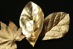 Gold Leaves Leaf Table Scatter Metallic gold Leaves by Teakberry Metallic Gold, Gold Leaf, Pine Cone Decorations, Custom Journals, Leaf Table, Cupcake Toppers, Fall Decor, Original Artwork, Paper Crafts