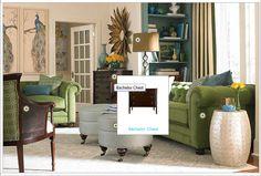 Living room designed by Bassett Furniture.