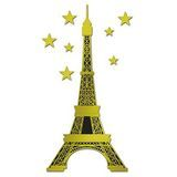 Eiffel Tower and Stars Cut-outs