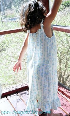 Tutorial #2 for a Little Girl's Summer Nightgown...with EASIER Angel Wing Straps!!