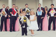Super hero wedding party idea. Too fun!  | photo by http://www.vanessajoy.com | see more http://www.thebridelink.com/blog/2013/09/04/new-jersey-garden-wedding-by/