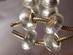 3 Pieces Silver Murano Glass Bead European Charm Pandor Pearl White Buy5FreeShip #European