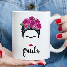 Frida Kahlo Coffee Mug Mexican Art Tea Ceramic Mug Frida Frida Artist, Mayan Symbols, Viking Symbols, Egyptian Symbols, Viking Runes, Ancient Symbols, Frida And Diego, Homemade Home Decor, Diy Mugs