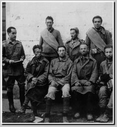 Brigadistas prisioneiros, homes con ideales e poucas posibilidades.  #GuerraCivilEspañola