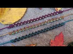 Macrame Tutorial-Easy Beaded Zig Zag Double Half Hitch Bracelet - YouTube