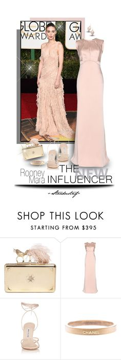 """Rooney Mara - The New Influencer"" by stardustnf ❤ liked on Polyvore featuring Trilogy, Alexander McQueen, Manolo Blahnik, Chanel and Alexis Bittar"