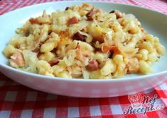 Gnocchi with cabbage and smoked meat NejRecept.cz - Gnocchi with cabbage and smoked meat - Bacon Recipes, Pasta Recipes, Cooking Recipes, Healthy Recipes, Czech Recipes, Ethnic Recipes, European Dishes, Banana Split, Arabic Food