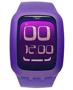 Swatch Watch, Unisex Swiss Digital Touch Screen Purple Silicone Strap