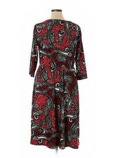 Igigi Womens Dress 14 16 1X Plus Size Red Black Paisley Wear To Work Made In USA | eBay Fancy Dress Short, Short Dresses, Red Black, Plus Size Dresses, Floral Arrangements, Work Wear, Paisley, How To Make, How To Wear