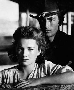 """Gregory Peck y Anne Baxter en""""Cielo Amarillo"""" (Yellow Sky), 1948"""
