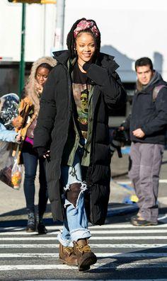 December 3: Rihanna on set filming Ocean's 8