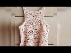 Cropped estilo regata em crochê 1°parte - YouTube Crochet Summer Tops, Crochet Crop Top, Crochet Blouse, Crochet Bikini, Knit Crochet, Crochet Baby Sweaters, Crochet Clothes, Crochet Diagram, Tricot