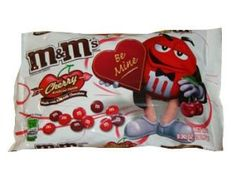 M&M Cherry Flavor Chocolate Candies - Mmmm Mmmm Good