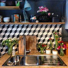 Une cuisine fleurie