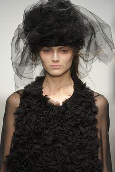 #JohnRocha #AW13 #catwalk #readytowear #LFW #london #black #fashion #style #closeup #detail