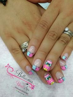 Decouñas nail art designs 2019 short nail designs 2019 best nail stickers best nail stickers nail art strips nail art design gallerynail designs for short nails 2019 essie nail stickers nail art stickers walmart best nail stickers 2019 New Nail Art, Cute Nail Art, Beautiful Nail Art, Cute Nails, Pretty Nails, Food Nail Art, Nail Art Designs, Disney Acrylic Nails, Owl Nails