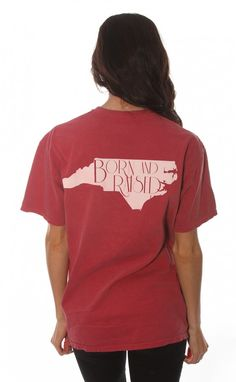 Riffraff | born & raised tee - North Carolina [red] Preferably in a long sleeve