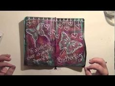 Mixed Media Art Journal Page - How-To - Acrylic Painting - If Nothing Ever Changed - YouTube