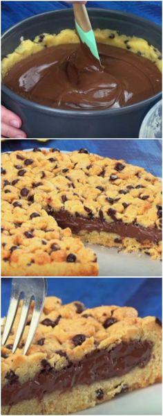 Cookie Gigante de apenas 4 passos, MUITO FACIL DE FAZER #cookie #sobremesa #sobremesas #doce #doces