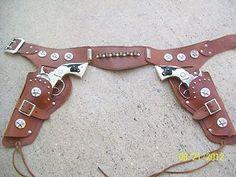 Hubley Texan Jr, double holster set with cap guns. | eBay