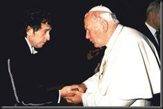 Bob Dylan and Pope John Paul II ❤