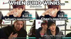 Hahahahaha xD - Love EXO Showtime. Sehun's reaction is my favorite.
