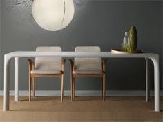Table à manger rectangulaire en bois SINTESI by LINFA DESIGN | design Claudio Lovadina