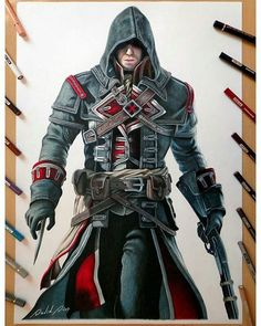 Repost from @daviddias_arts   Shay Cormac (Assassin's Creed Rogue)